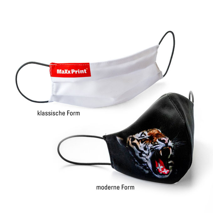 Mundschutz / Gesichtsmaske mit eigenem Design bedrucken