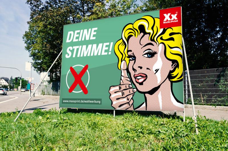 Wahlplakate jetzt günstig bei MaXxPrint drucken