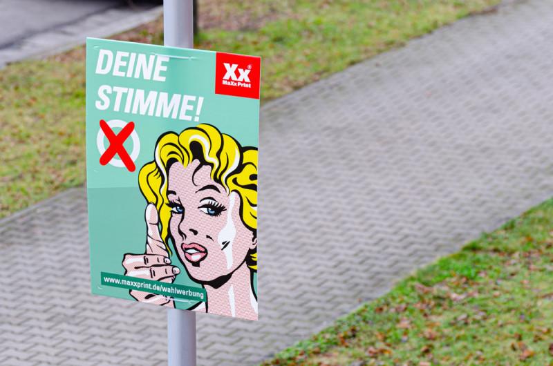 Wahlplakat DIN A1