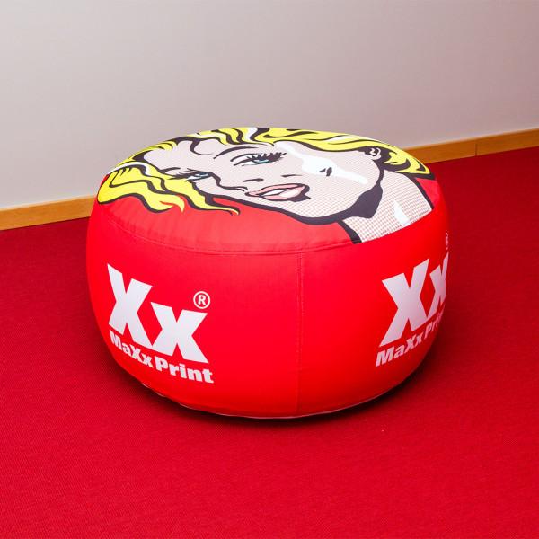 Inflatables – ausblasbare Werbeträger – Hocker