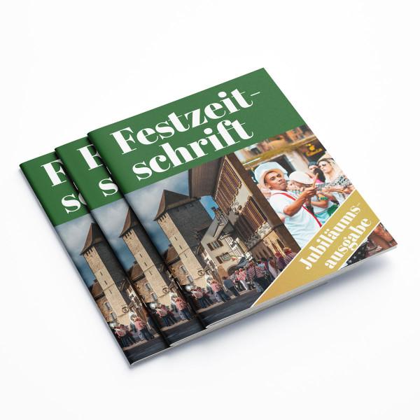 Ob Vereinsheft, Stadionmagazin oder Hochzeitszeitung, wir drucken Ihre Festzeitschrift hochwertig und zuverlässig zu günstigen Preisen!
